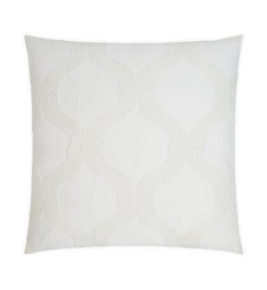 French Twist Square Ivory Pillow