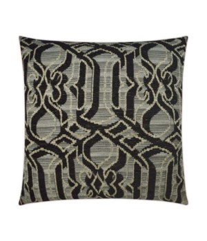 Sesto Square Black Pillow
