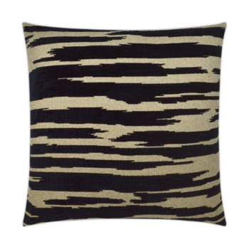Sienna Square Black Pillow