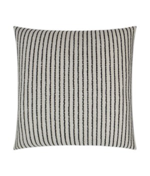 Demetria Square Black Pillow