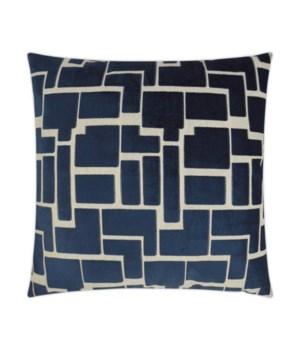 Aura Square Navy Pillow