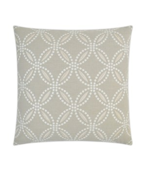 Circle Back Square Linen Pillow