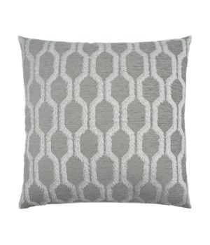 Fringed Square Platinum Pillow