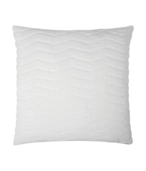 Lush Chevron Square Snow Pillow