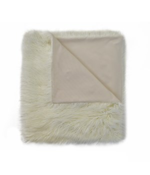 Llama Fur Ivory Throw