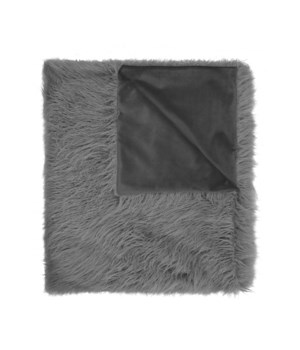 Llama Fur Silver Throw