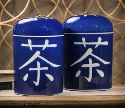 Cobalt Blue Tea Jar