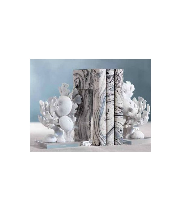 Coral Beach Bookends