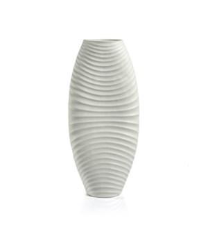 Toyoma Rippled White Stoneware Vase