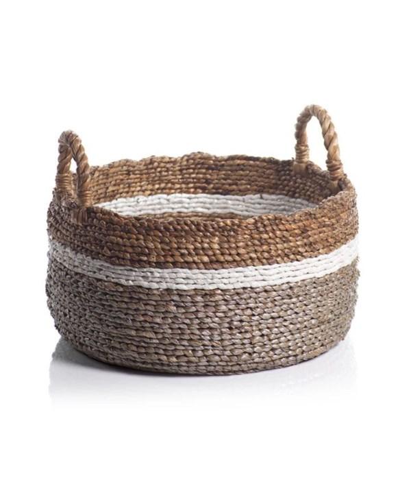 Fira Seagrass & Water Hyacinth Baskets, Set of 2