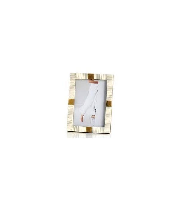 Maha Bone with Brass Trim Photo Frame, 4x6