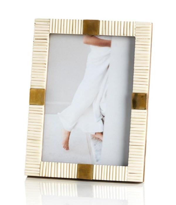 Maha Bone with Brass Trim Photo Frame, 5x7