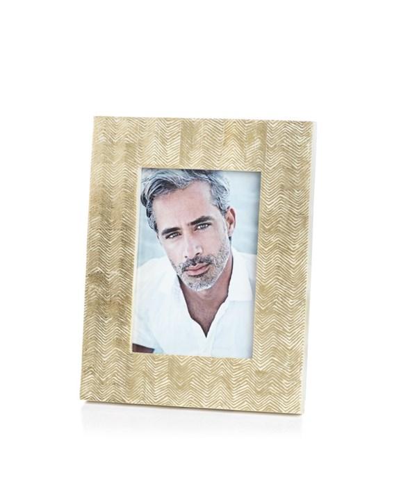 Gold Foil Herringbone Photo Frame, 5x7