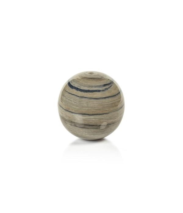 Casablanca Enamel Metal Fill Ball, Blue Gray, Medium