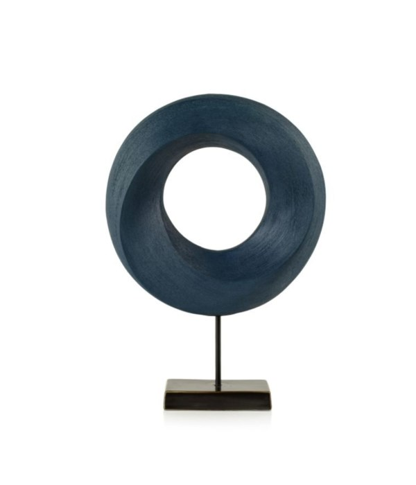 Blue Porcelain Twist on Stand