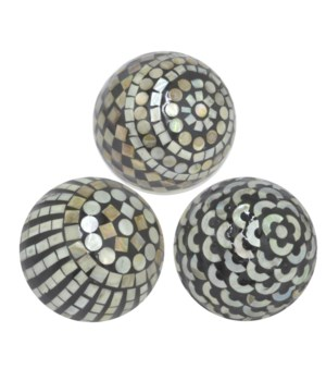"Ceramic Ball Mop Inlay, Assorted, Black, 4"""