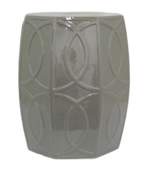 Grey Ceramic Garden Stool
