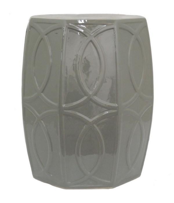 Grey Ceramic Garden Stool