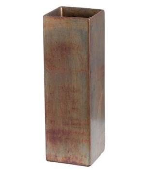 Patina Square Vase, Lg