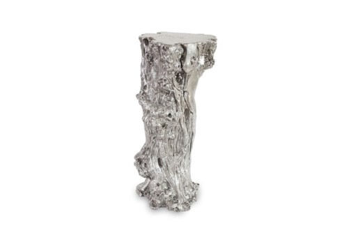 Stump Pedestal, Silver Leaf