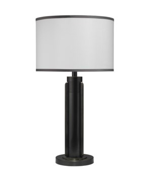 Belvedere Table Lamp, Oiled Bronze with Medium Drum Shade