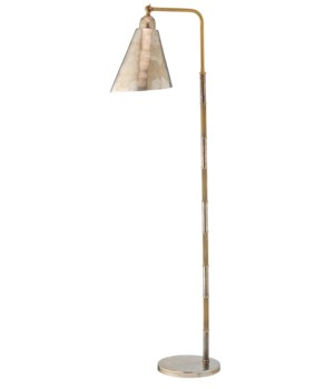 Vilhelm Antique Silver and Antique Brass Reading Lamp