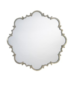 St. Albans Antique Silver Mirror