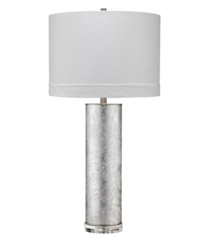 Feathered Silver Table Lamp