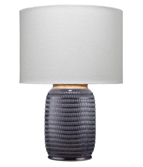 Graham Table Lamp, Dark Navy Ceramic