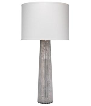Striped Silver Pillar Lamp