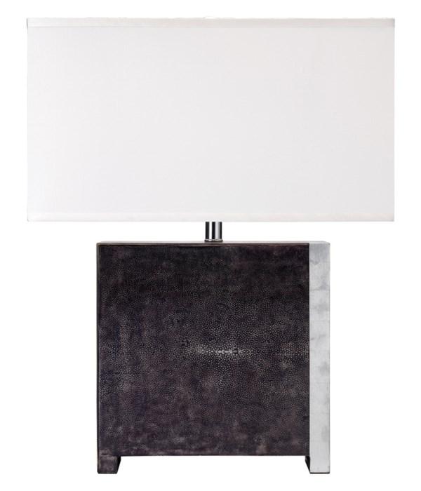 Raymond Table Lamp in Black Faux Shagreen