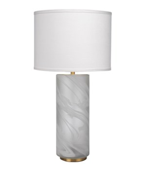 Large Streamer White Table Lamp