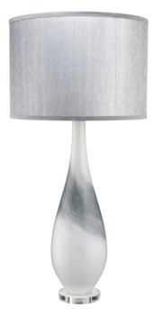 Dewdrop Table Lamp, Grey Swirl Glass