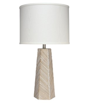 High Rise Cream Ceramic Table Lamp