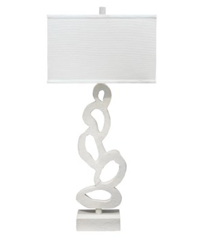 Ivy Table Lamp, White Gesso