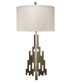 Skyscraper Table Lamp, Champagne Leaf