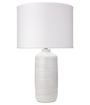 Trace White Ceramic Table Lamp