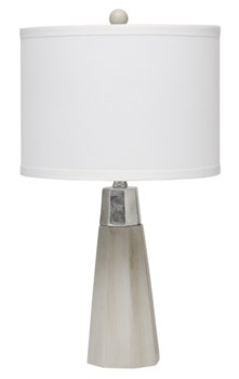 Darcy Grey Cement , Silver Leaf Table Lamp