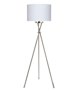 Manny Polished Nickel Floor Lamp