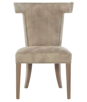 Remy Leather Dining Side Chair, L504-001, Gr 4, Smoke, #10