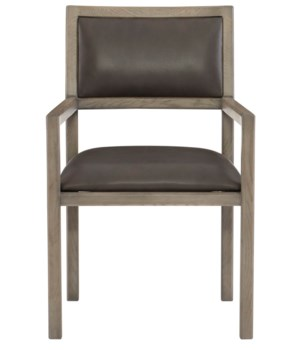 Mitcham Leather Arm Chair, L503-002, GR 2