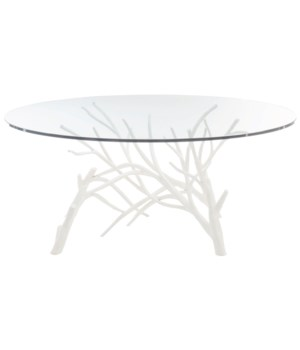 Marnie Cocktail Table with Glass Top