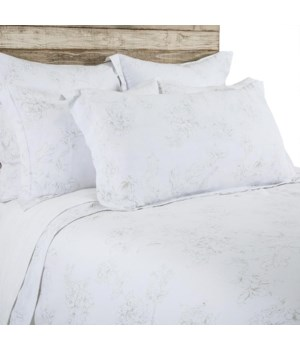 Lana White, Taupe King Set-Duvet, 3 E Shams and Sheet Set