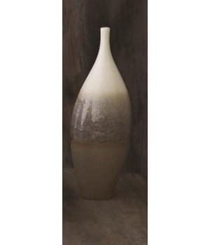 Cream Rises Vase, Tall, Small