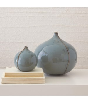 Mile Vase, Blue, Small