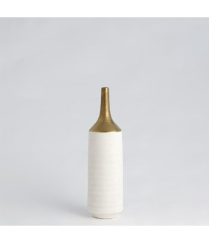 Two Toned Vase, Gold/White, Small