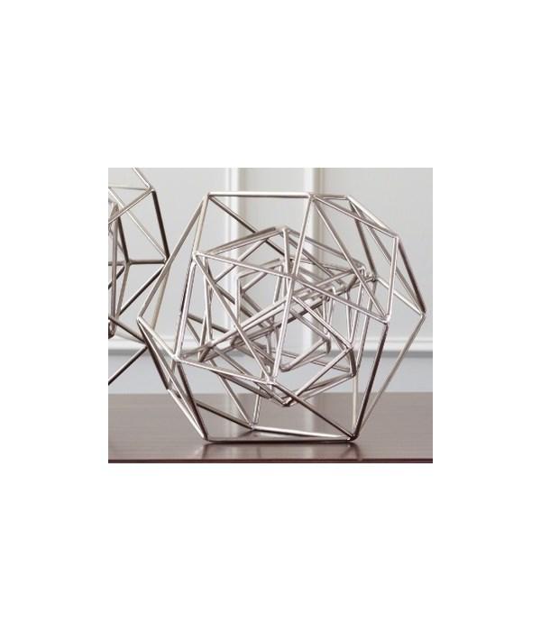 Geo Sculpture, Nickel, Medium