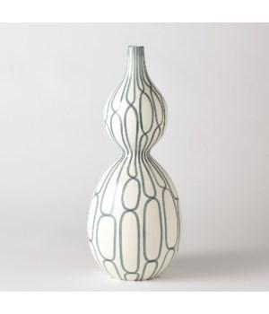 Linking Trellis Double Bulb Vase, Blue, Large