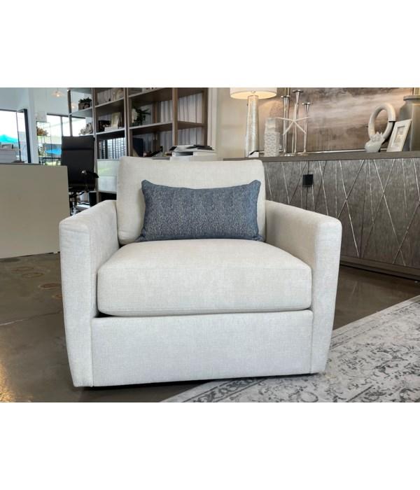 Carmet Swivel Chair, FD-1-10 Felder Cream GR I, Espresso