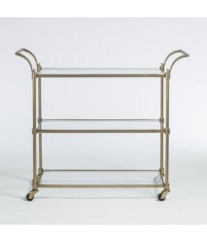 Wakefield Bar Cart, Antique Brass